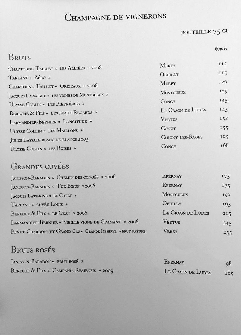 Loiseau CArte Champagne