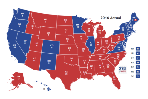 2016 Elections MAP